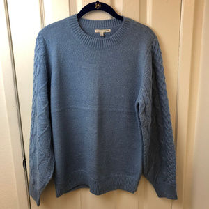 NWT Rebecca Minkoff Pale Blue Penny Sweater. Med